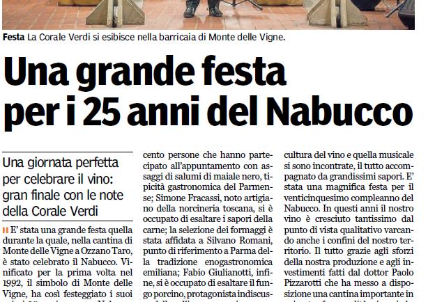 UNA GRANDE FESTA PER I 25 ANNI DEL NABUCCO