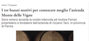 I TRE BUONI MOTIVI PER CONOSCERE MEGLIO L'AZIENDA MONTE DELLE VIGNE